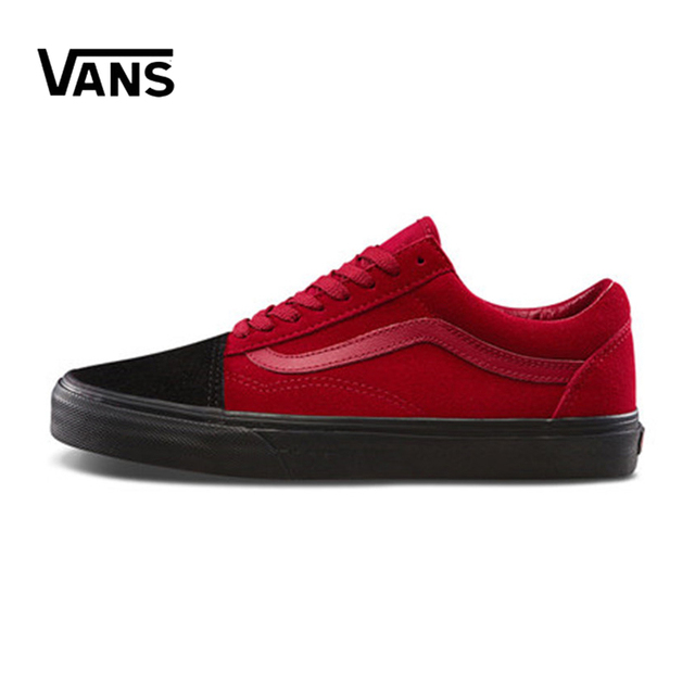Nueva llegada Original Vans hombres y mujer clásico Old Skool bajo-top  zapatos de skate a13c06fe7a0