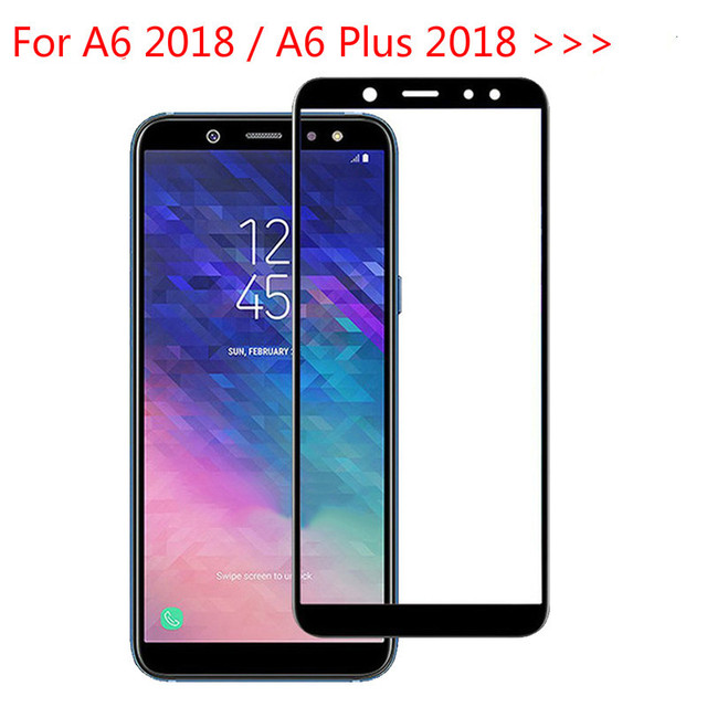 cheap for discount 11cda b4c2b US $1.99 |9H Full Cover Tempered Glass For Samsung A6 2018 A600 FN Screen  Protector For Samsung Galaxy A6 Plus 2018 A6+ A605F A6Plus A 6-in Phone ...