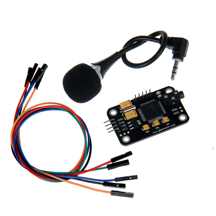 Geeetech Voice Recognition Module for Arduino Compatible arduino wav player 22 1khz voice play sound broadcast module compatible with rpi stm32