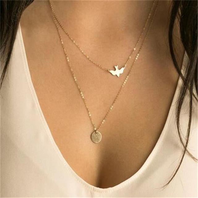 Olaru Fashion Heart Moon Star Choker Multilayer Choker Necklace Woman Neckalces Valentine's Day Gift Accessories Wholesale SALES