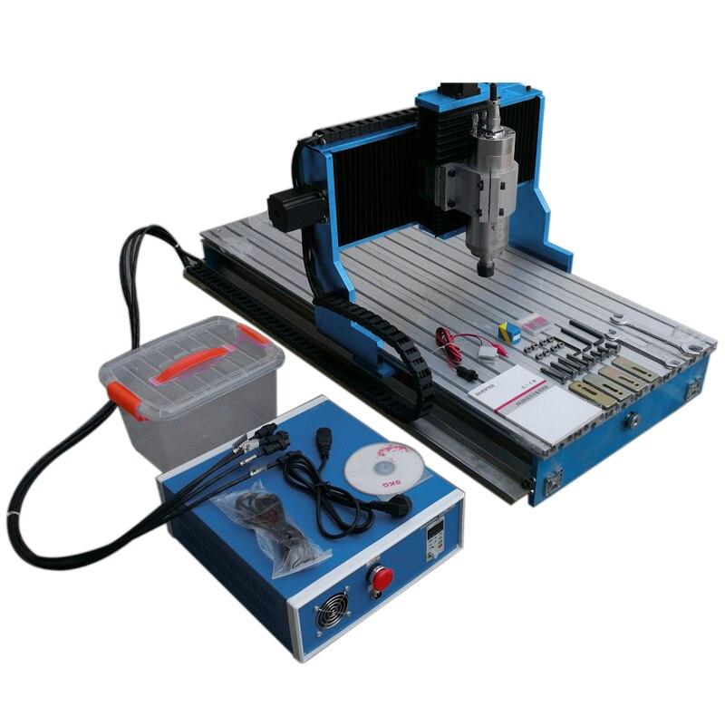 Guide linéaire rail métal machine de découpe CNC 3040 2200W broche 4 axes bois routeur PCB graver