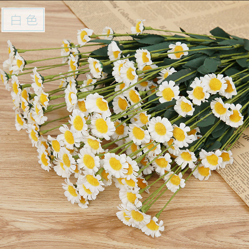 1pcs 1 Bouquet 13 Heads Chrysanthemum Artificial Flowers Daisy Artificial Flower for Wedding Party Home Decoration D45