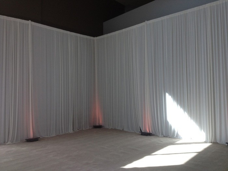 3m X 6m White Curtain Lining Backdrop Party Wedding