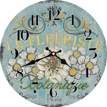Vintage Flowers Design Clock Silent Home Office Cafe Kitchen Decor Home Saat Shabby Chic Large Wall Clocks Art No Ticking Sound стоимость