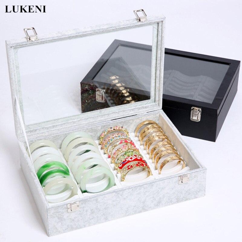 Bracelet velours présentoir Bracelet Organisateur Boîtes Recevoir boîte à bijoux etagère d'exposition Emballage Articles Bracelet Cadre Rack Cas