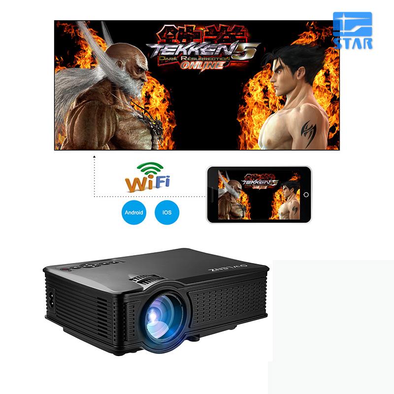 Prix pour D'origine Mini Projecteur Pico HD LED Vidéo Home Cinéma Cinéma Portable Mobile Projecteur WIFI Soutien Miracast Airplay Multi-écran