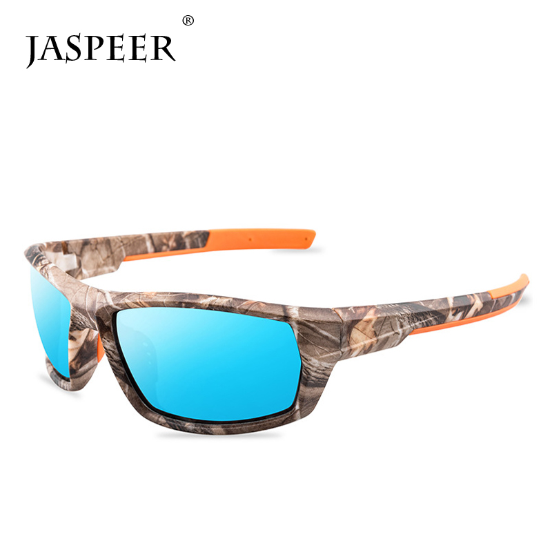 JASPEER Polarized Fishing Sunglasses Men Women Fishing Goggles Camping Hiking Driving Eyewear Sport Sun Glasses