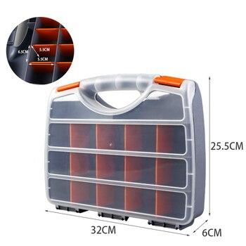 ABS plástico Caixa de Peças Caixa De Armazenamento do Parafuso Peças de Hardware de Metal Portátil caixa de ferramenta Chave De Fenda ferramenta de reparo automático