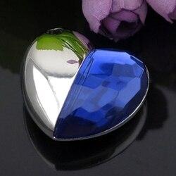 Niebieski diamentowy styl serca Pendrive 64gb pamięć Flash 16gb Pendrive Usb Creativo prezent karta pamięci gadżet luksusowy dysk
