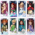 9 Styles Princess Doll 26~36cm Baby Princess Elsa Anna Snow white Tinker bell Cinderella Sofia Ariel Doll Model Toy Boneca Dolls