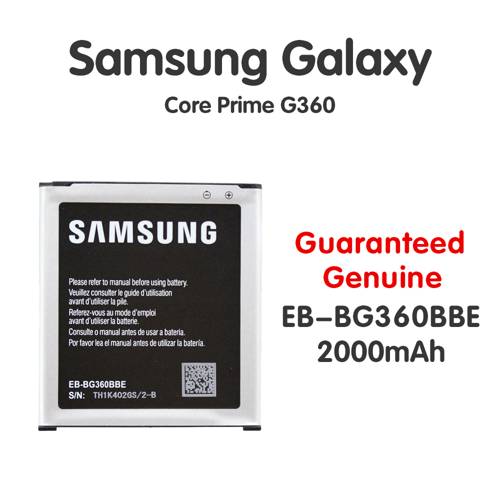 Original <font><b>Samsung</b></font> Replacement <font><b>Battery</b></font> EB-BG360BBE For Galaxy Core Prime NFC G360 <font><b>G361</b></font> G360V G3608 G360H 2000mAh Batteria Akku image