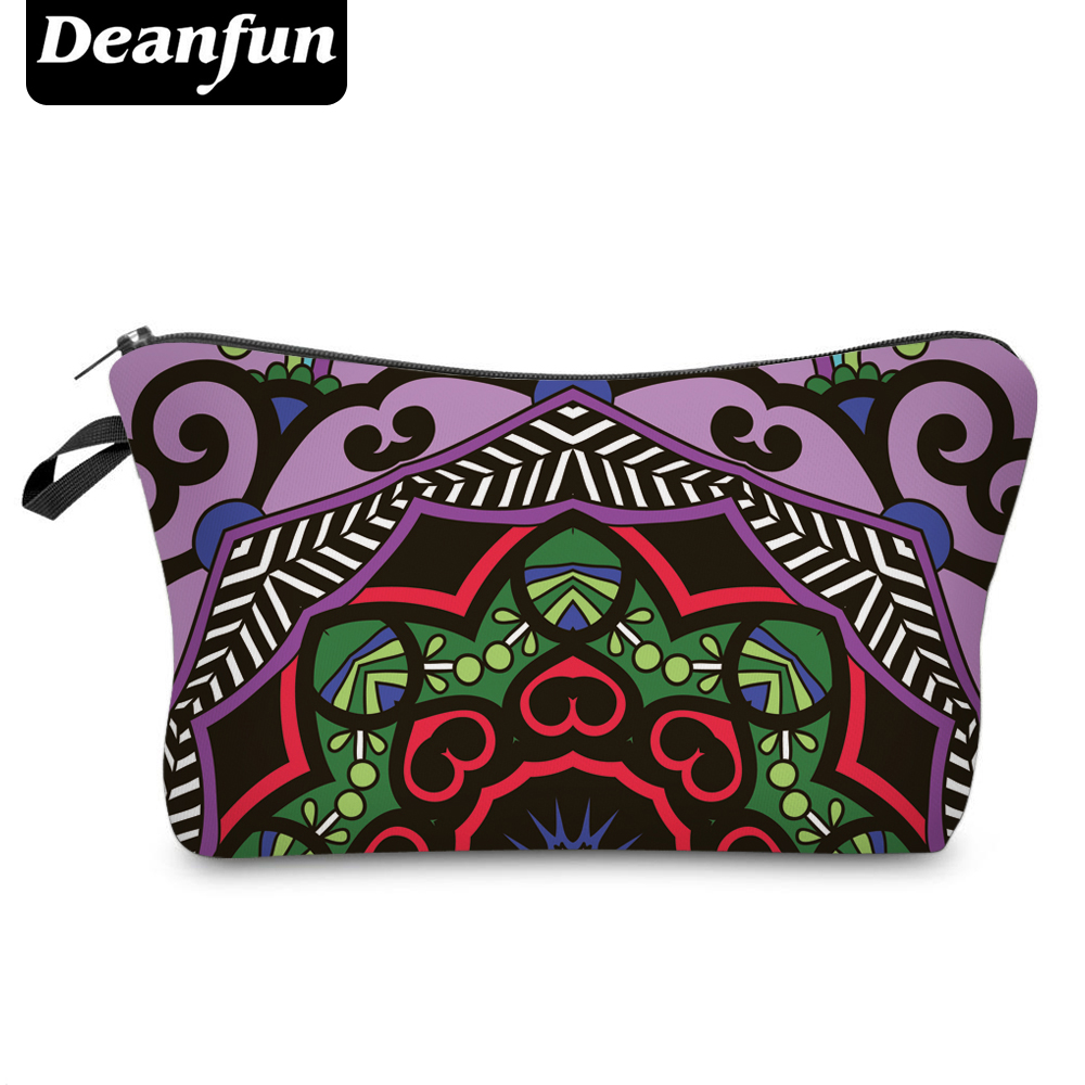 Deanfun Cosmetic Bags 3D Printed Vintage Pattern Necessaries For Travel Organizer 50962 #