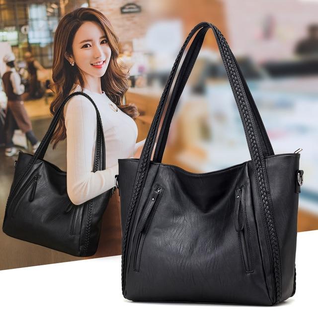 Soft Leather Large Shoulder Bag
