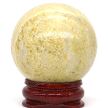 Natural Yellow Serpentine Stone Ball Mineral Quartz Sphere Hand Massage Crystal Ball Healing Feng Shui Home Decor Accessory 40mm opalite stone ball mineral quartz sphere hand massage crystal ball healing feng shui home decor accessory 40mm