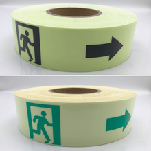 5cmx10m Glow Tape Self-adhesive Sticker Removable Luminous Fluorescent Glowing Dark Striking Warning