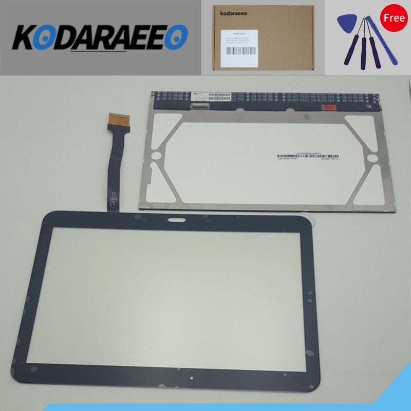 kodaraeeo LCD Touch Screen Display For Samsung Galaxy Tab 4 10.1 SM-T530 T531 T535 SM-T531 SM-T535 T530 Replacement Part 10 1 white for samsung galaxy tab 4 10 1 t530 t531 t535 tablet lcd display touch screen digitizer full assembly with frame