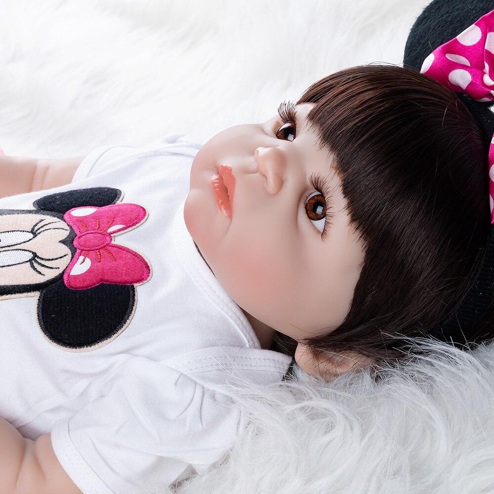 Réaliste Reborn bébé poupée nouveau-né jouets pour enfants cadeaux de noël corps entier Silicone fille Reborn poupées cadeau d'anniversaire - 5