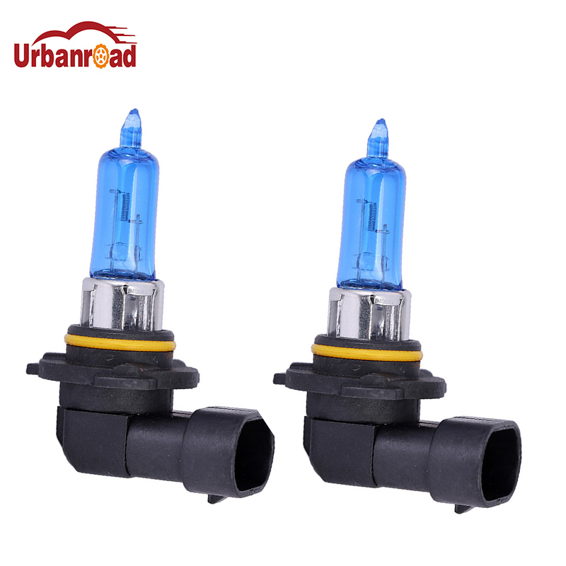 Urbanroad 2pcs 9005 HB3 Halogen Car Head Light Bulb Lamp HB3 Super White 6000K 12V 65W Headlight Parking Halogen Bulb Light