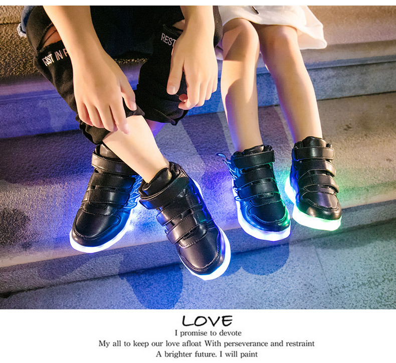 HTB18u1tef1TBuNjy0Fjq6yjyXXab - UncleJerry Kids Light up Shoes with wing Children Led Shoes Boys Girls Glowing Luminous Sneakers USB Charging Boy Fashion Shoes