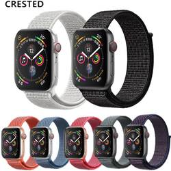 Хохлатая новая спортивная петля для Apple Watch band 4 44 мм 40 мм Iwatch серии 3 2 1 нейлон дышащий Браслет Легкий ремень