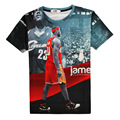 Горячая Леброн Джеймс Повседневная 3D Печати Футболка Кливленд 23 Красный Хлопок Мужская Лето Tee униформа Рубашки Подросток Свободные Homme Топы