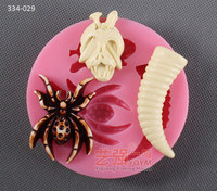 Silicone mould Halloween spider shape fondant cake chocolate decoration mold handmade resin clay mold craft tools
