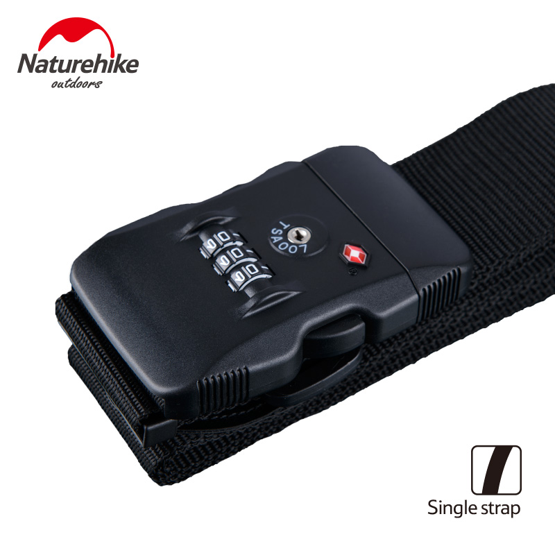 Naturehike Luggage Strap Adjustable Combination Packing Belt TSA Suitcase Strap Travel Baggage Customs Coded Lock NH23A023-C/D luggage