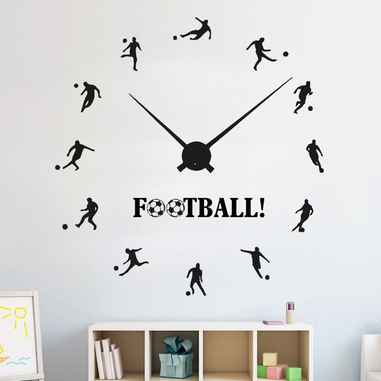 football jam dinding dekorasi kamar decals vinyl football olahraga