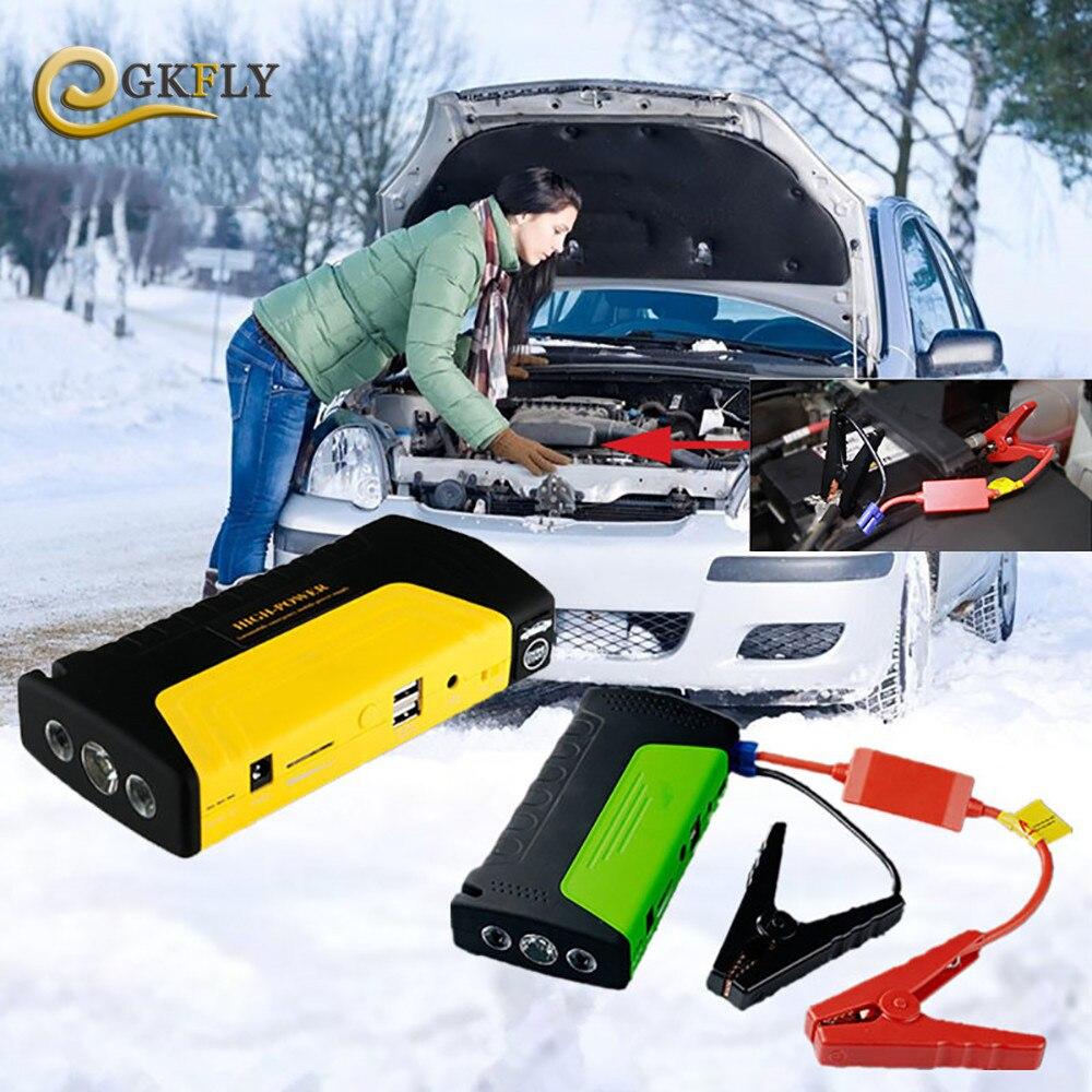 Auto Starthilfe Auto Startvorrichtung Bewegliche Energienbank 12 V auto Ladegerät für Autobatterie Booster Buster Diesel Auto LED leichter