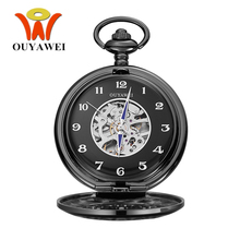Relogio Masculino OUYAWEI Brand Mechanical Hand Wind Pocket Watch Men Retro Vintage Pendant Watch Steampunk men Hombre Clocks