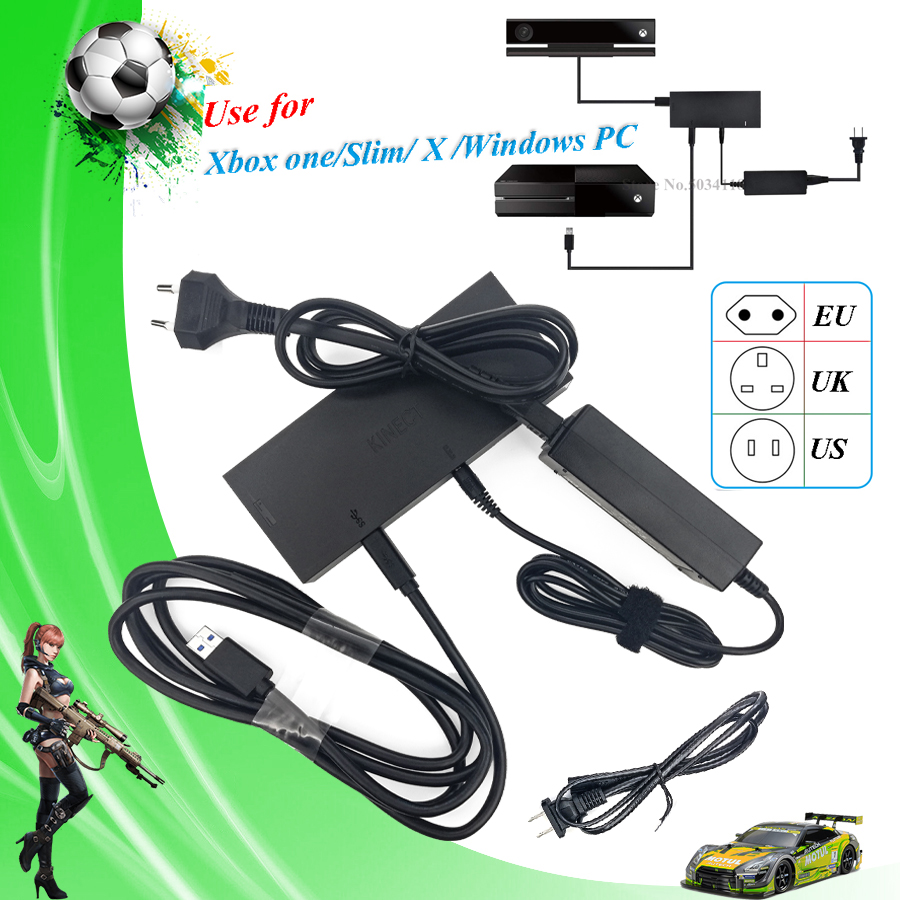 US $23 56 5% OFF|2019 Newest Version Kinect Adapter 2 0 V2 Moves Movement  Sensor Motion Control AC Power Supply for Xbox one S/X/Windows PC-in