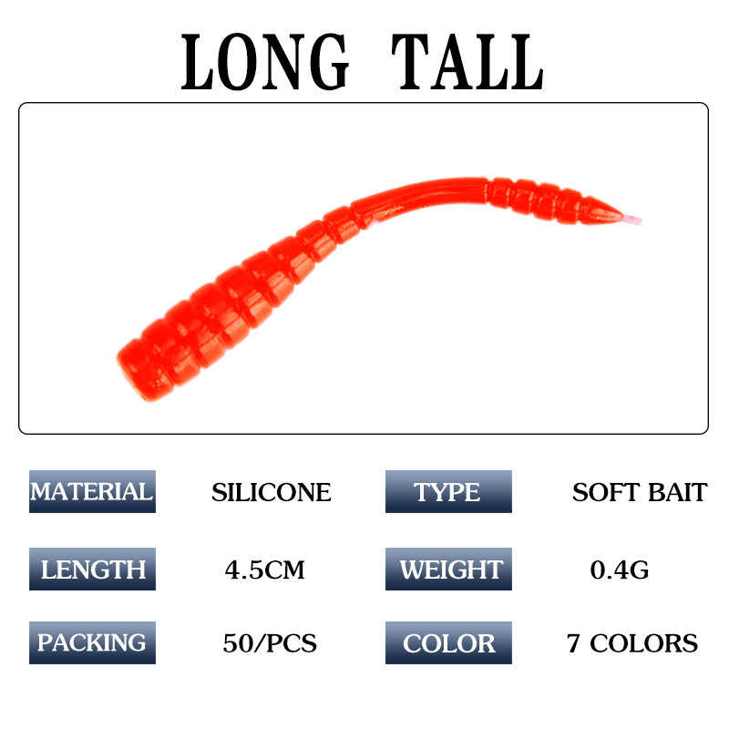 1 pc Fishing Lure Soft Bait Wobblers Easy Shiner Jig Head Silicone Worm Pesca Fishing Tackle intimate Accessories