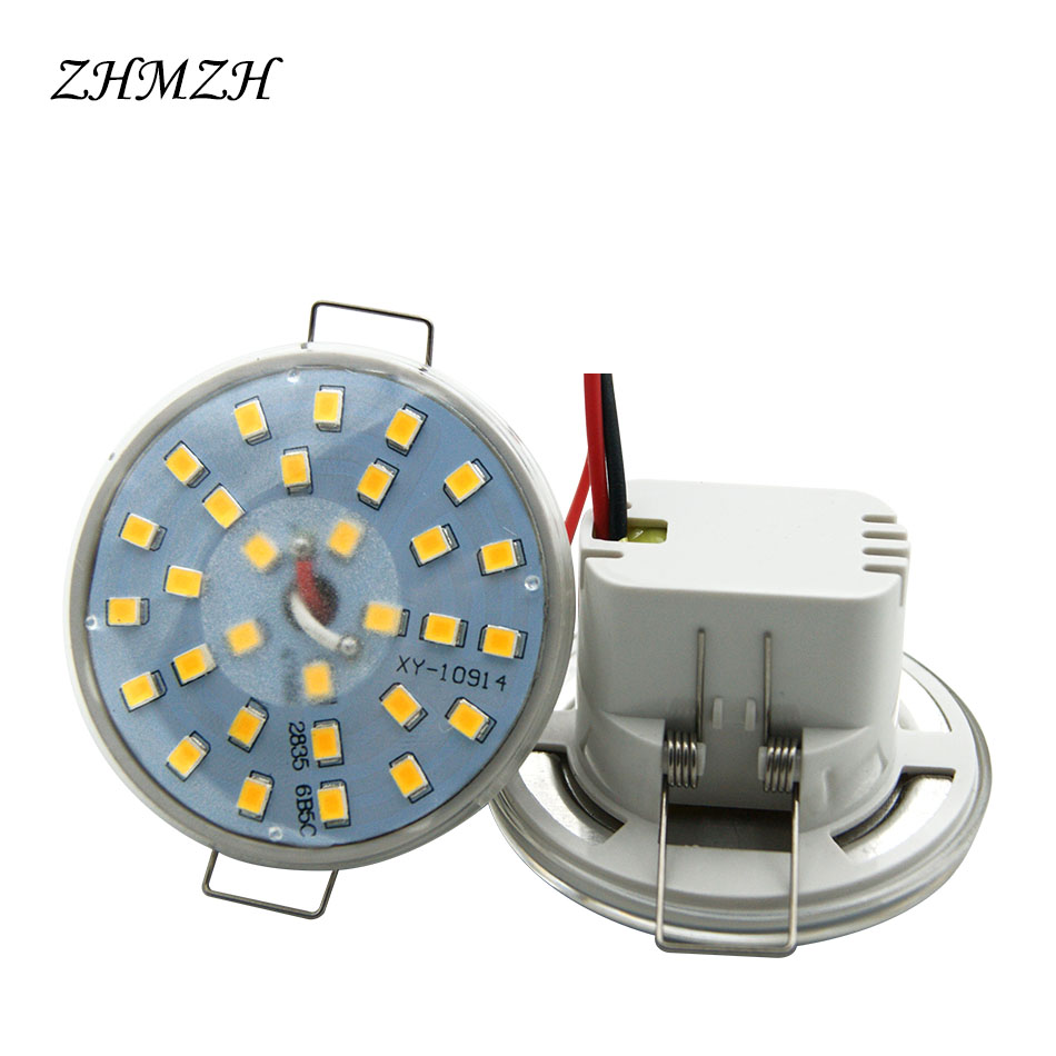 220V 110V Direct plug-in LED Downlight Integrated Light Cup 3W 5W 6W LED SpotLight Round Ceiling Recessed Umbrella LED Corn Bulb