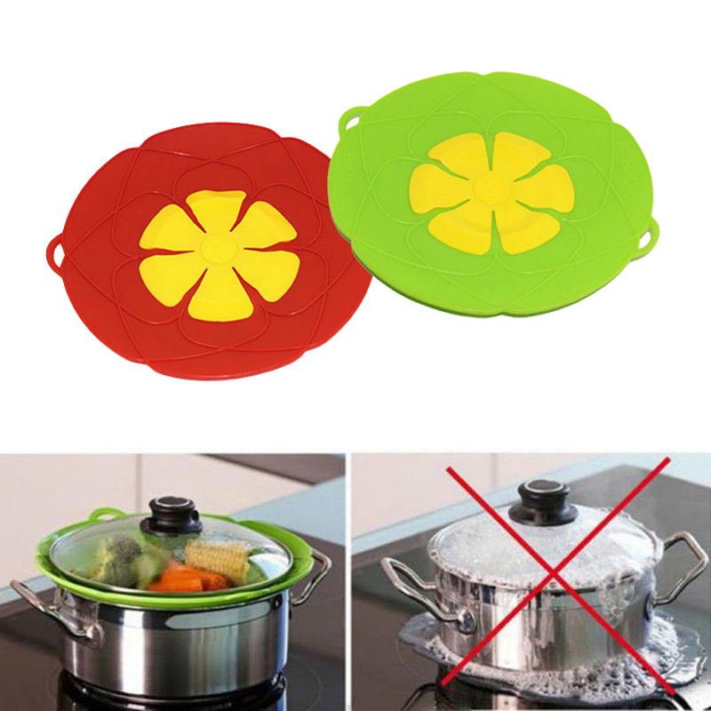 1PC Anti Overflow Lid Spill Splash Silicone Cooking Pot High temperature resistant splash Stopper Pan Boil Over Safeguard Cover