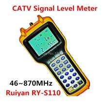 Ruiyan CA ТВ измеритель уровня сигнала 46 870 МГц кабельный ТВ тестер RY-S110 аналоговый