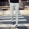 Повседневная slim fit белье брюки мужские брюки белые узкие брюки тонкие Брюки для мужчин EM16