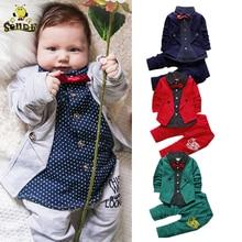 SONDR Children clothes girls formal gentleman suit kids dresses for boys costume Bow toddler set birthday dresswear
