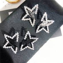 Personality Big Star Earrings For Women New Fashion Crystal Universe Planet Statement Jewelry Bijoux Gifts