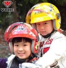 2016 НОВЫЙ YOHE Вечный дети Пол-Лица мотоциклетный шлем ребенок электрический велосипед шлемы ABS осенью и зимой теплый YH859S