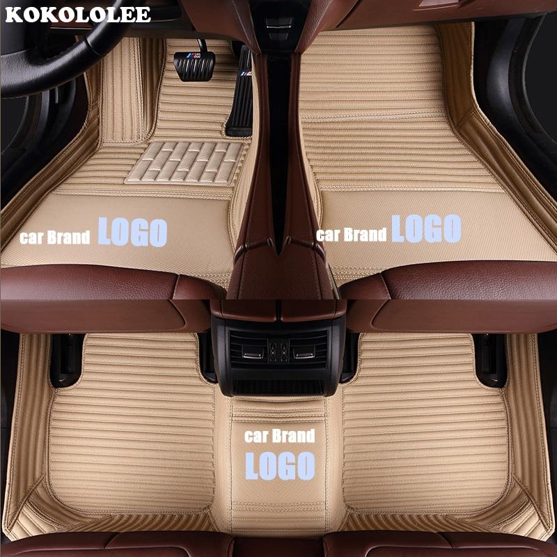Image 3 - kokololee car floor mats for Volkswagen LOGO vw up CC passat b5 b6 b7 b8 polo golf 4 5 6 tiguan jetta touran touareg car styling-in Floor Mats from Automobiles & Motorcycles