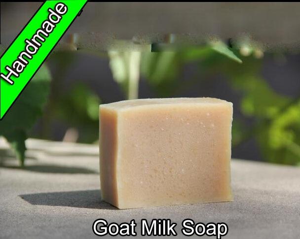 2 Pcs Real Handmade Goat Milk Soap Face Care Base For Neutral Skin Lithospermum Body Treatment Euchroma Moisturizing