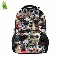 Cute Puppy Bulldog Collages Print Backpack Teenagers Children Daily School Bags Laptop Backpack Large Capacity Travel Rucksack