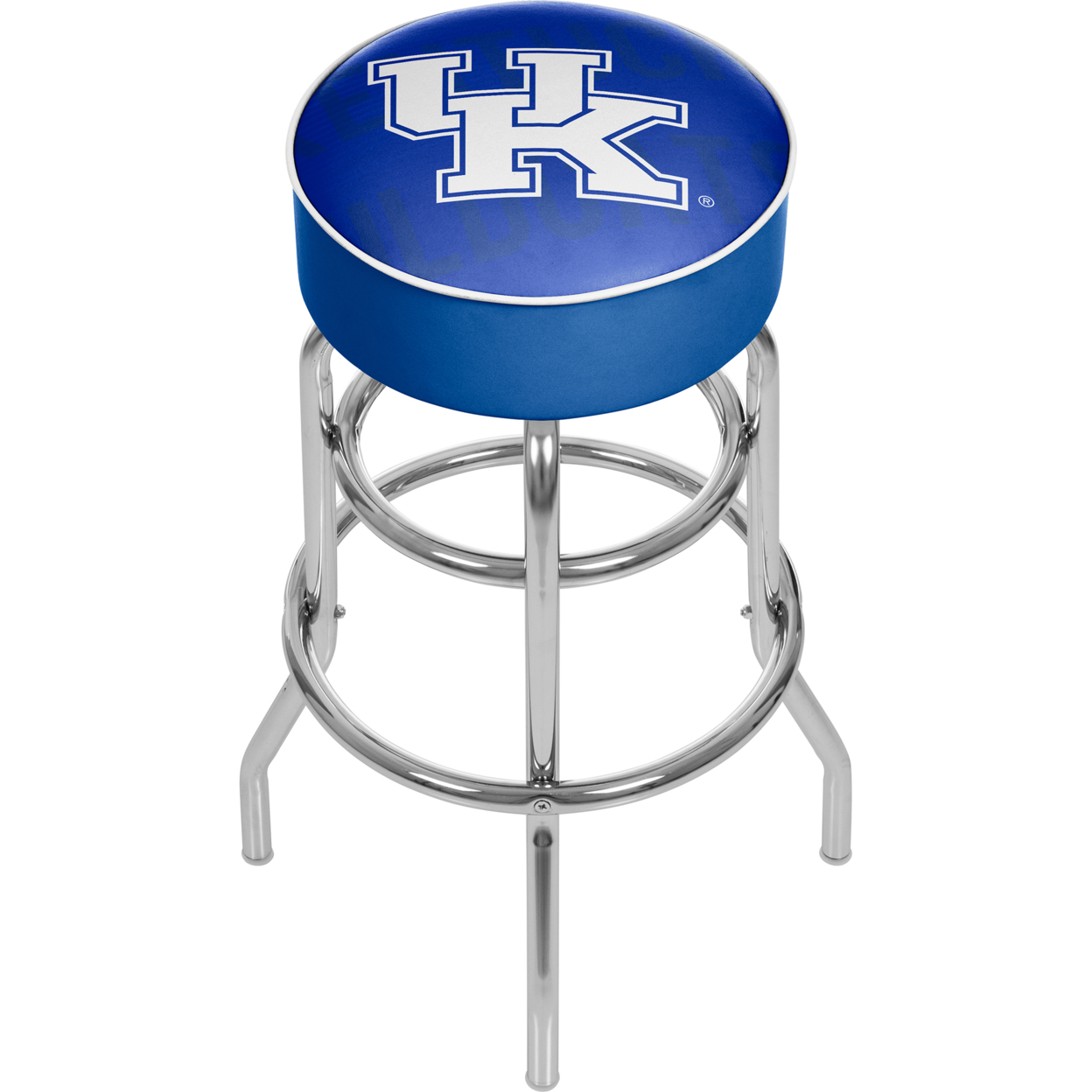 University of Kentucky Wordmark Padded Swivel Bar Stool 30 Inches High