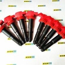 8 ateşleme bobini paketi buji Fit Porsche Cayenne GTS S Turbo Transsyberia Panamera 4S 94860210413 94860210410 ZSE042 2008  2013