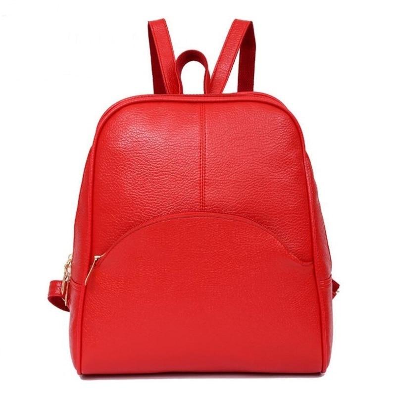 Panta shpine lëkure, çanta të rrumbullakëta të stilit të - Çantë e shpinës - Foto 2