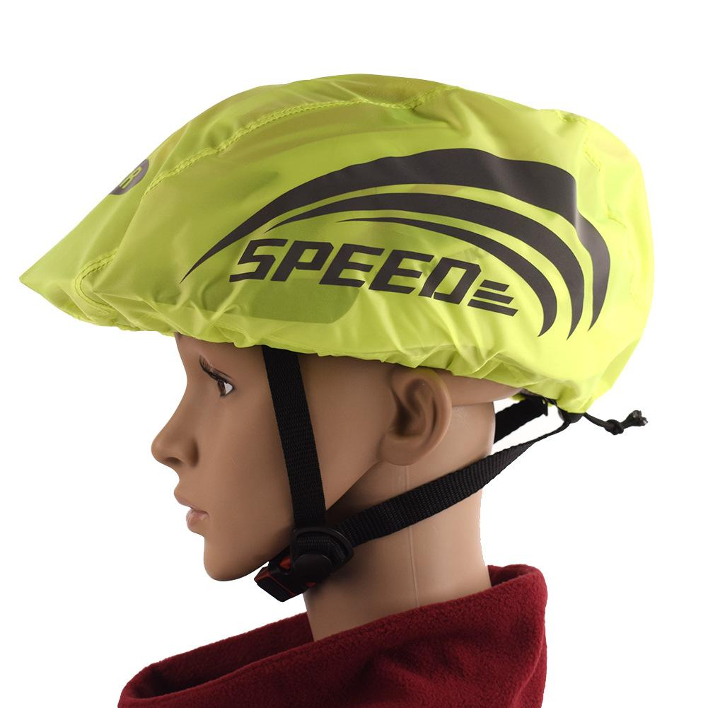 High Visibility Universal Size Bike Bicycle Waterproof Helmet Cover With Reflective Stripes(China)