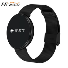 Hiwego B10 Смарт Браслет монитор сердечного ритма крови Давление погоду шагомер Будильник Bluetooth smartband для Android и IOS