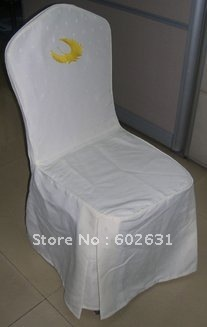 Hot sale high quality white dining chair cover