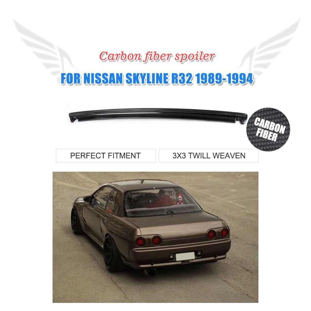 Задний спойлер из углеродного волокна багажник загрузки губы крыло для Nissan Skyline R32 GTR 1989 1994