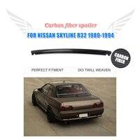 Carbon Fiber Rear Spoiler Trunk Boot Lip Wing for Nissan Skyline R32 GTR 1989 1994